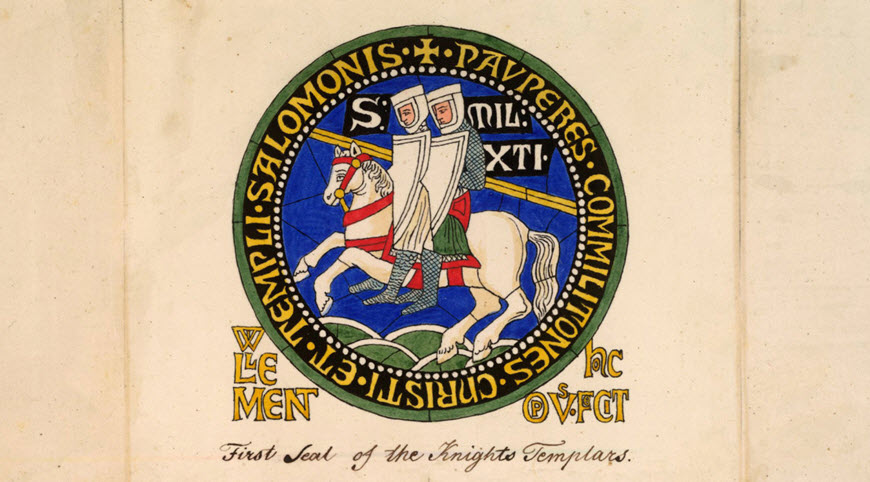The first seal of the Knights Templar