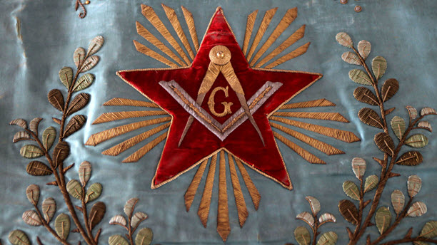 The Freemason symbol for the Grand Loge de France, the third largest Masonic obedience in France.