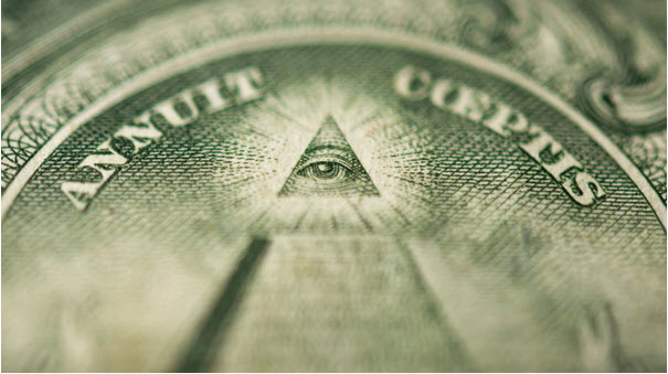 The Eye of Providence is on the dollar bill
